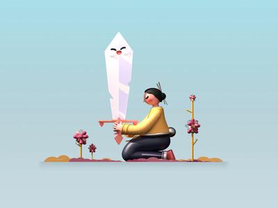 Rest your mind character design webdesign landing page japanese japan web website uidesign best design ux animated love best shot dribbble animation 3d colors character illustration design