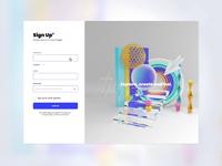 Adobe's elegant registration form roqueid 3d adobexd createwithadobexd elegant colors adobe xd adobe abstract animation web design webdesign website web ui design uidesign uiux ux ui