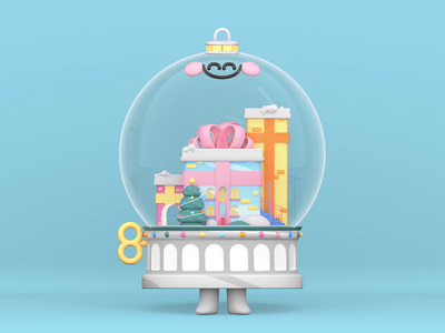 Christmas Ball christmas tree christmas ball animation design illustration art character animation 3d animation love snowball christmas uixdesign character kawaii animated ui 3d artist kawaii art 3d art 3d illustration animation