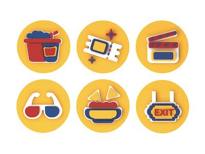 🎬FILM ICONS icondesign iconaday debut creativedirection visual design concept cinema flat  design icon design icon set website app icon ux ui logo 3d branding design illustration