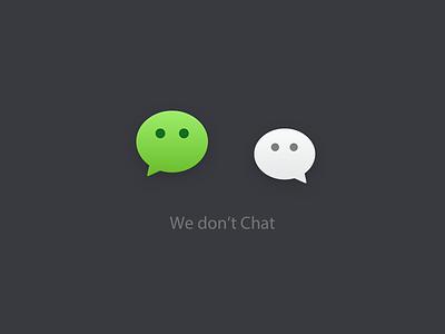 We don't Chat #COVID-19# design logo icon