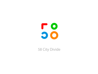 58 City Devide #COVID-19# logo design icon