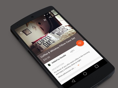 Maia  material design dribbble android