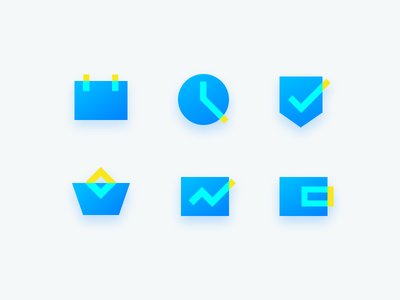 Finance Icon dribbble yellow blue insurance fund gold icon finance