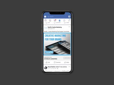VeraFly Creative Marketing Facebook Ad Mock Up