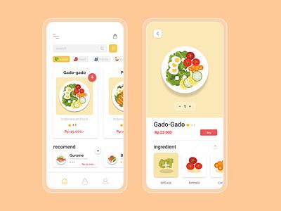 Food App application uxdesign uiux ui design illustration app design app ux desain design