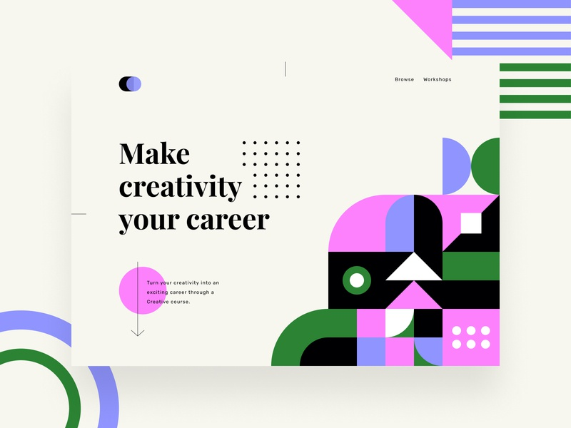 Make creativity your career shape vector branding business ui design web geometry geometric web design ui design