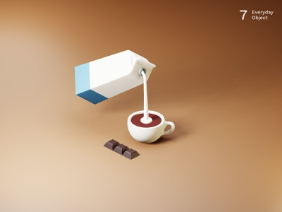 Coffee | Everyday object illustration chocolate milk coffee 3d