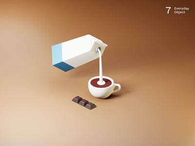 Coffee | Everyday object illustration chocolate milk coffee 3d