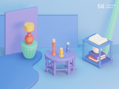 Still life 23 | Everyday object objects abstract scene set design still life colors composition illustration 3d