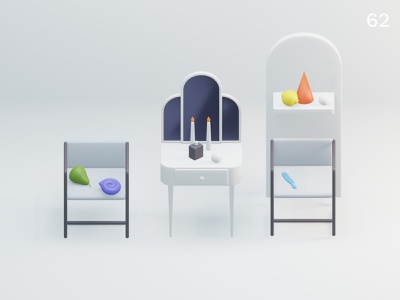 Still life 27 | Everyday object colors interior composition design minimal illustration 3d
