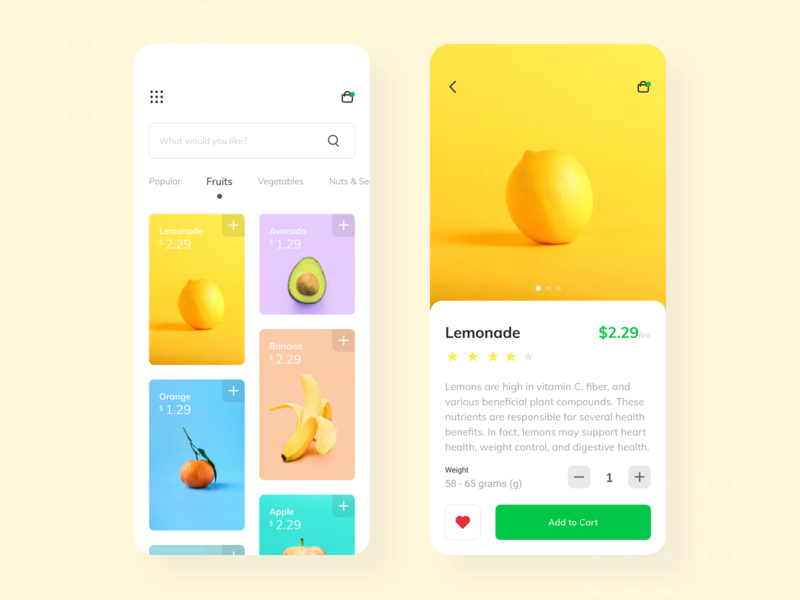 #Exploration | Healthy Store App