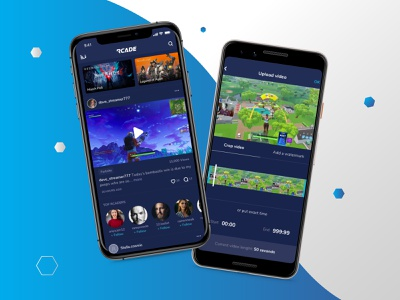 Share Gaming Clips App ui ux sharing clips ios app design product design app design games gaming app gaming
