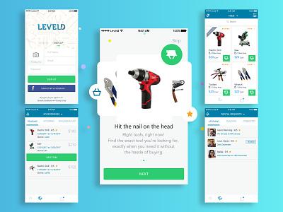 Tool Renting Platform design app ux ui machine rent app rent app ui mobile app development app mobile app tool app