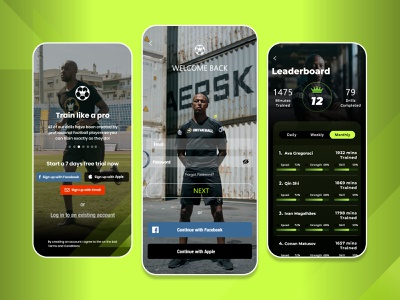 Football Training Sports App sports football app football training uiux traning ios app app store mobile app app training app soccer training sports app