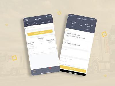 Trucks Driver System App mobile app design play store ui  ux transport system login screen login page logistics trucks driver driver app transport app