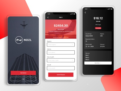 Business Aviation's App price fuel ui  ux mobile app design mobile app aviation app business aviation app
