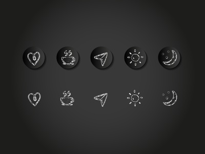 Pencil Scribbling Dark Icons android ios app mobileappicon share icon set icons appicons