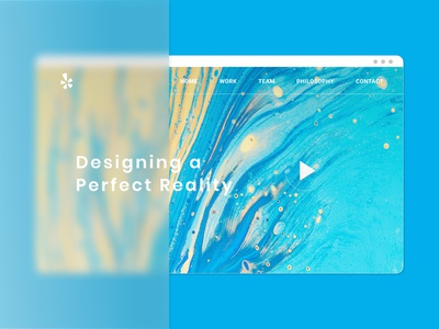 Abstract Webpage in GlassMorphism Trend homepage design vibrant colors design art ui  ux glass effect glassmorphism website design webdesign