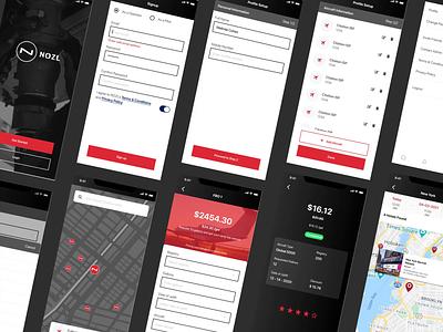 NOZL -FBO Locator & Direct Fuel Platform app design aviation navigation maps ios app uiux mobile app design mobile design mobile app