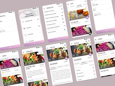 Healthy Recipe Mobile App uiux health health recipe mobile app design mobile app