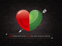 """""""love hurts but with love we can also be healed"""""""