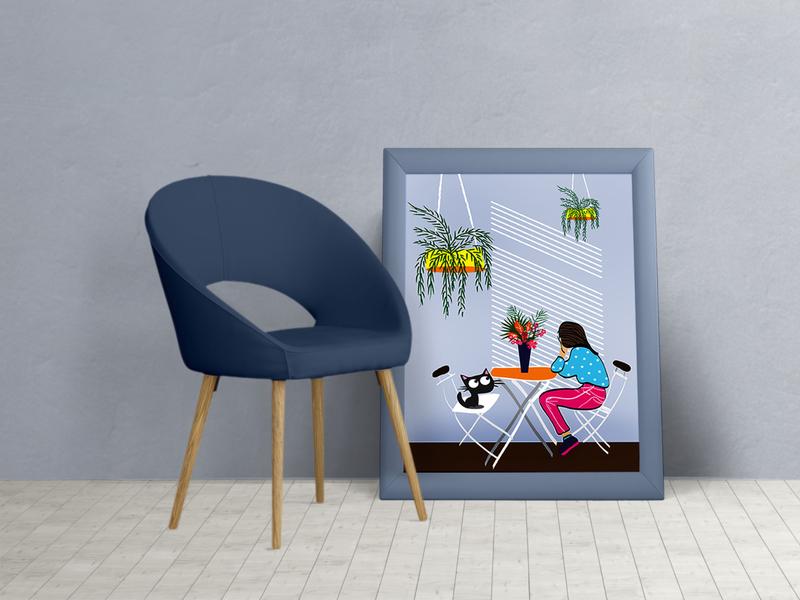Tutu illustration Photo Frame interior cute illustration kidlitart children design concept design illustration art flat  design creative design artist frame flat illustration cat srilanka creative illustration art design colombo drawing illustrator