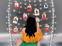 Memory Collection with TUTU - Daily Lifestyle Illustration... childrens illustration app design colours art artist artwork designers frame memories sri lanka cat dribbble flat illustration srilanka creative illustration design colombo drawing illustrator