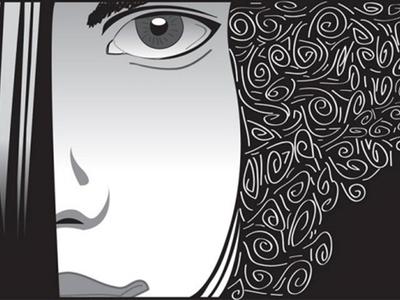 My Illustration artwork 3 - Girl in line artwork CS5