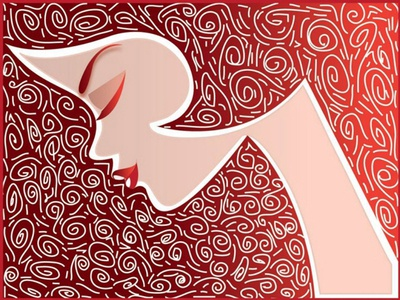 My Illustration artwork 3 - Girl in line artwork