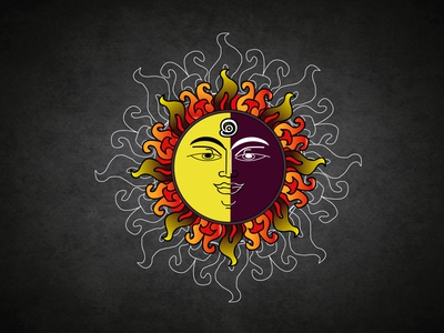 Sun with Traditional Line