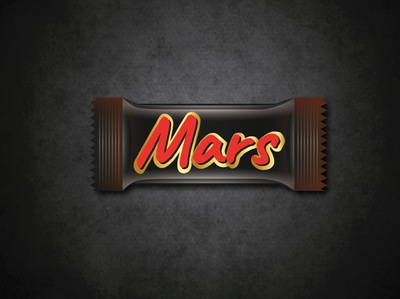 Mars Chocolate wrapper Design