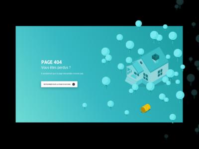 Energie Futée - 404 Page hire gradient ui ux team product design desktop page 404 isometric illustration colors agency