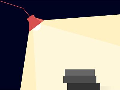 Reading nights. vector illustration flat