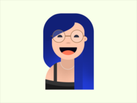 Blue haired Catie