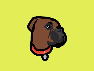 Boxer logo icon portrait design branding illustration illustrator vector art vector logo design logo dog illustration dog logo dog boxer