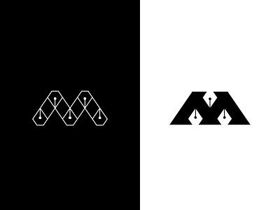 M Pen branding logo design graphic design logo mark logo icon logo type letter connected negative space pen tool pen m