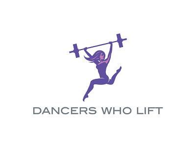 Dancers Who Lift new york city nyc brand identity advertising branding vector art vector graphic design logo design logo movement athletic logo athletics athletic health fitness lifting dancers dance