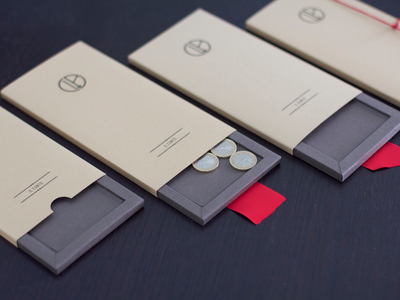 Handcrafted Restaurant Bill Holder Packaging restaurant branding design paper products packaging