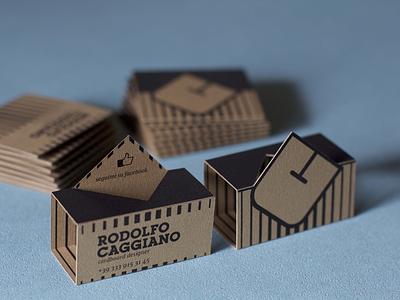 Pop-up Business Card packaging monogram print design cardstock branding logo design business card