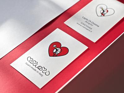 Mimiami business card heart business card print logo graphic design brand