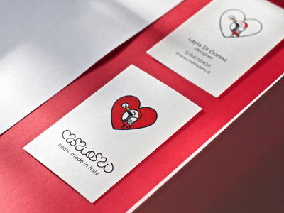 Mimiami business card heart business card print logo graphic design brand