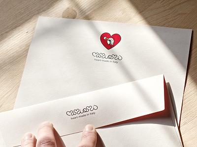 Mimiami stationery heart graphic design logo brand print stationery