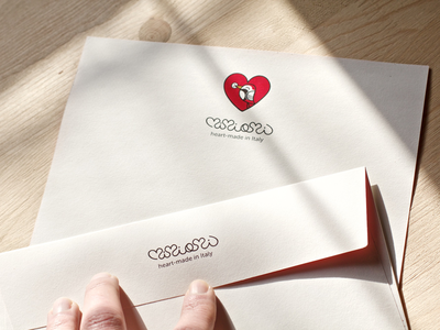 Mimiami stationery heart graphic design logo brand print stationery