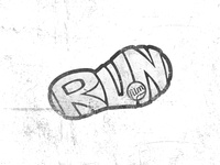 Run film concept logotype