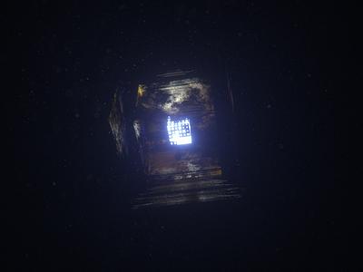 Cube in fog render 3d octane c4d