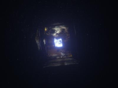 Cube in fog