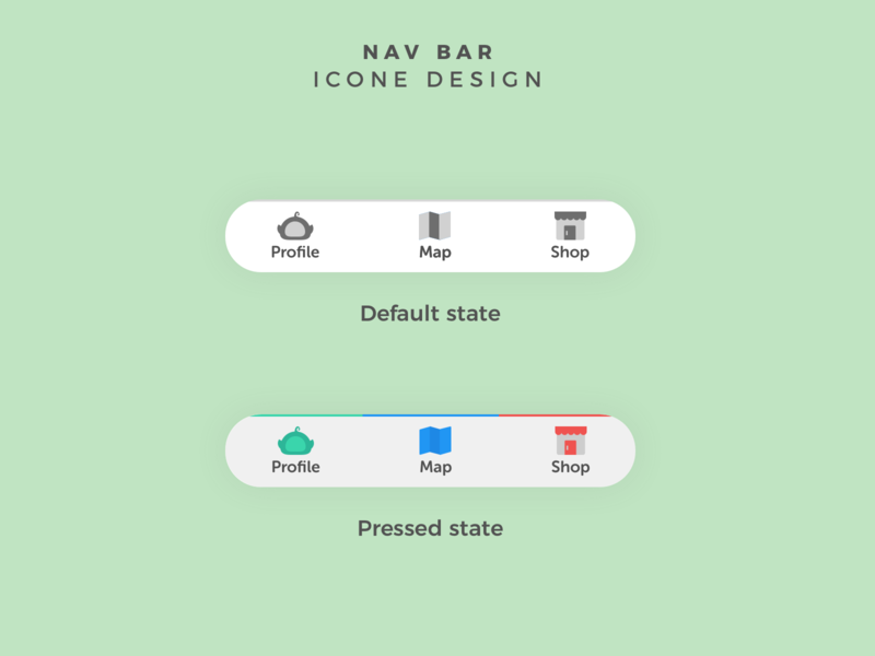 Navigation bar app navigation bar ui design illustration