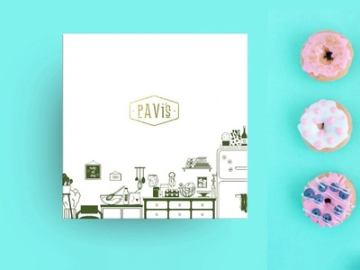 Pavis Cake Shop web packaging desgn packagingdesign poster logo handmade typography design illustration branding