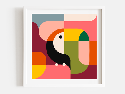 Animals Print augmented reality augmentedreality animation fox whale toucan website shop frame geometry shapes gicleeprint giclee prints art print